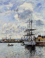 Deauville, the Harbor, 1897, boudin