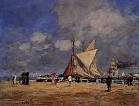 Deauville, on the Jetty, 1889, boudin