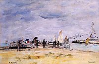 Deauville, the Jetty, c.1890, boudin