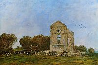 Deauville, Ruins of the Chateau de Lassay, 1893, boudin