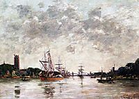 Dordrecht, La Meuse, View of Swandrecht, 1884, boudin