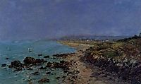 Douarnenez, the Shore and the Bay, 1897, boudin