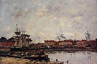 Dunkirk, the Inner Port, 1889, boudin