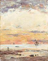Ebb on sunset , c.1882, boudin