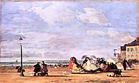 Empress Eugenie on the beach at Trouville, 1863, boudin