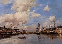 Entrance to the harbor, boudin