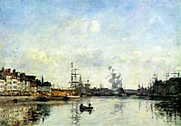 Entrance to the harbor, 1889, boudin