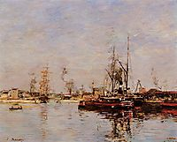 Entrance to the Port of Le Havre, 1889, boudin