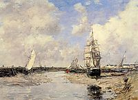Estuary at Trouville, 1880, boudin