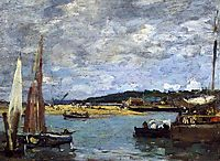 The Ferry to Deauville, c.1870, boudin