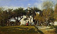 Fervaques, Garden and House of Monsieur Jacuette, 1877, boudin
