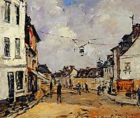 Fervaques, the Main Street, c.1880, boudin