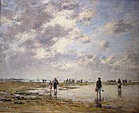 Figures on beach, 1886, boudin