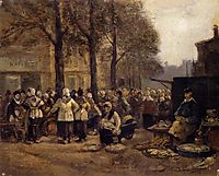 The Fish Market, Rotterdam, 1876, boudin