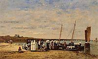 Fishermen of Kerhor Receiving a Blessing at Plougastel, 1870, boudin