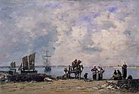 Fishermen-s Wives at the Seaside, 1872, boudin