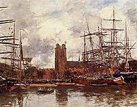 A French Port, 1884, boudin