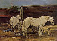 Gypsy Horses, c.1886, boudin