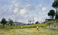 The Harvest near Trouville, 1878, boudin