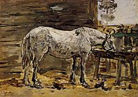 A Horse Drinking, c.1887, boudin