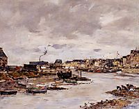 The Inner Port of Trouville at Low Tide, boudin