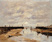 The Jetties, Low Tide, Trouville, 1891, boudin