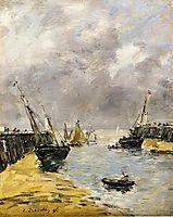 The Jetties, Low Tide, Trouville, 1896, boudin