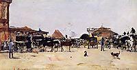 La Place de la Gare a Deauville, 1879, boudin