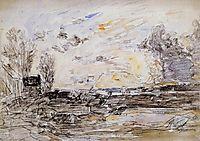 Landscape with Sunset, 1880-1890, boudin
