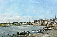 Laundresses on the Banks of the Port of Trouville, c.1866, boudin