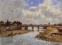 Laundresses on the Banks of the Touques, c.1887, boudin