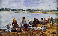 Laundresses on the Banks of the Touques, c.1895, boudin