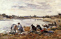 Laundresses on the Banks of the Touques, boudin