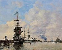 Le Havre. Avent Port., 1866, boudin