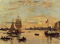 Le Havre. Avent Port., c.1890, boudin