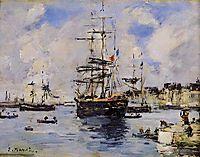 Le Havre. Avent Port., c.1887, boudin