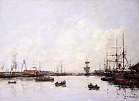 Le Havre. Basin of Eure., 1892, boudin