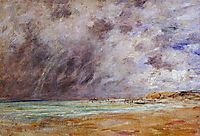 Le Havre. Stormy Skies over the Estuary., c.1894, boudin