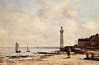 Lighthouse at Honfleur, boudin