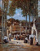Local Pilgrimmage at Landerneau, 1867, boudin