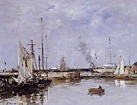 The Lock at Trouville, 1894, boudin