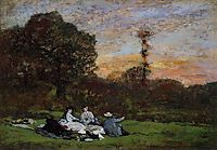 The Manet Family picnicking, 1866, boudin