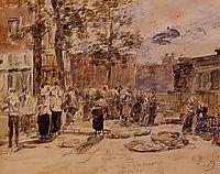 Market Scene, boudin