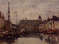 The Merchant Dock, c.1872, boudin