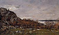 The Mouth of the Elorn in the Area of Brest, 1872, boudin