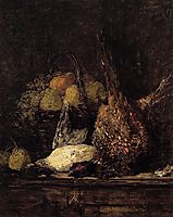 Pheasant, Duck and Fruit, 1879, boudin