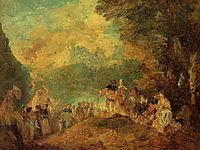 The Pilgrimage to Cythera (after Watteau), c.1849, boudin