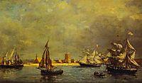 The Port of Camaret, 1872, boudin