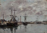 The Port of Deauville, c.1890, boudin