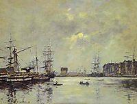 The Port of Ke Havre (Dock of La Barre), 1888, boudin